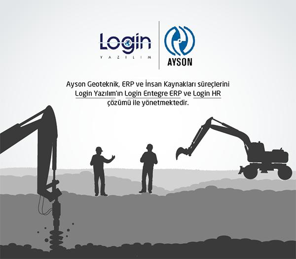 Ayson Geoteknik ERP ve İK Süreçlerinde Login Yazılım'ı Seçti