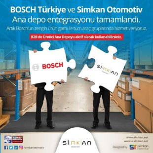 Simkan ve Login, Stok Entegrasyonu Projesine BOSCH ile Başladı