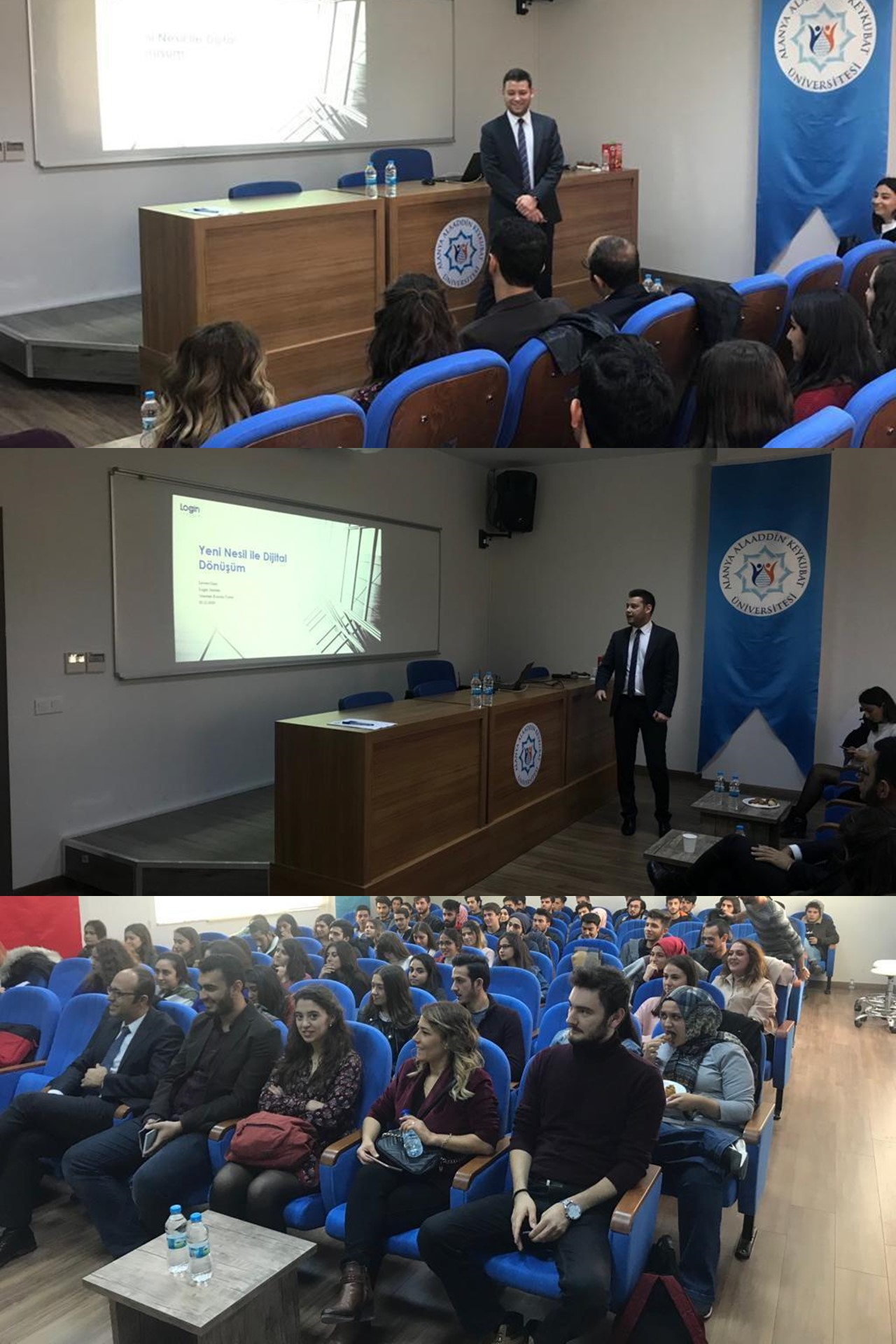 The Board Member of Login Yazılım, Levent Sılay was at the 1st Industry Summit of The Alanya Alaaddin Keykubat University