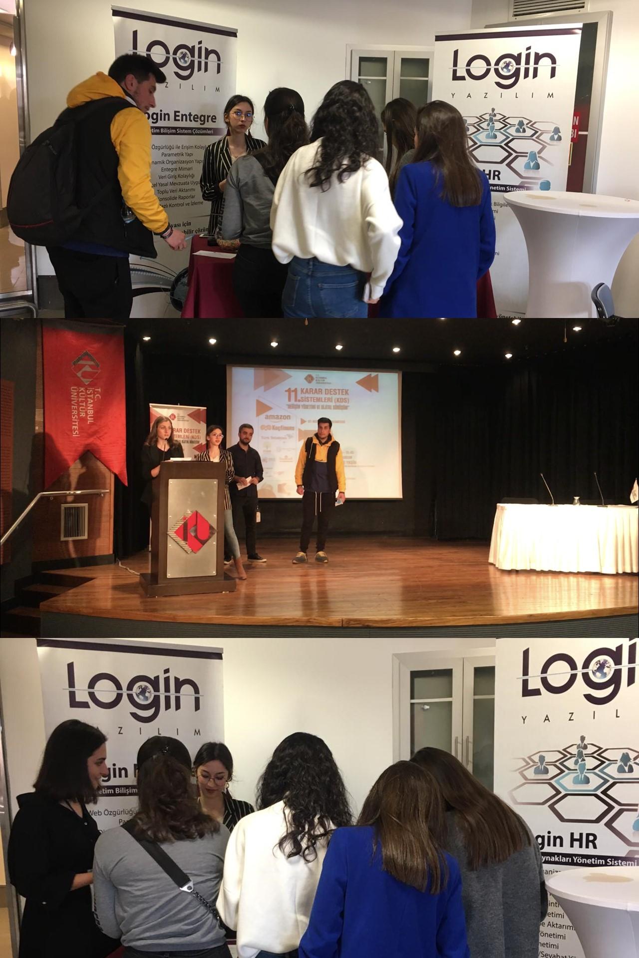 Login Yazılım İstanbul Kültür Üniversitesi 11. Karar Destek Sistemleri Etkinliğindeydi